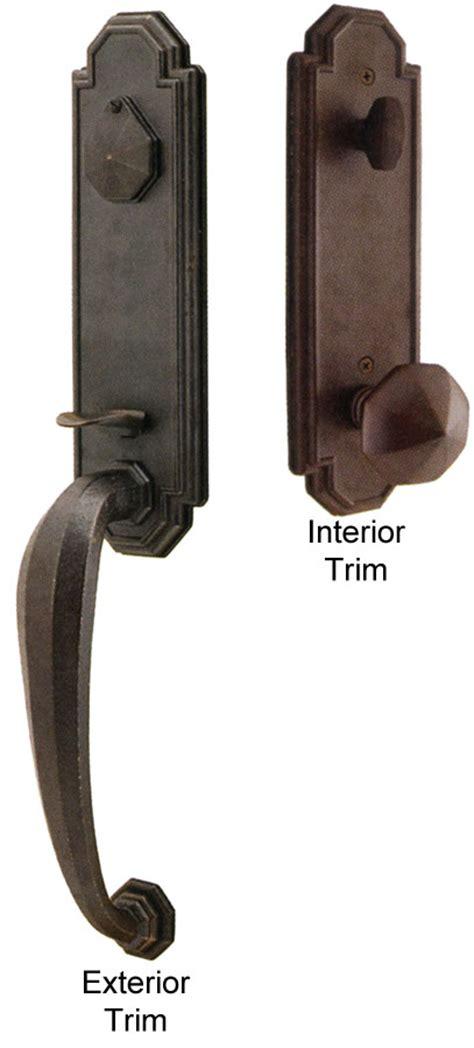 Emtek Exterior Door Hardware Emtek Octagon Bronze Entry Door Handle Shop Entry Set Door Locks Homestead Hardware