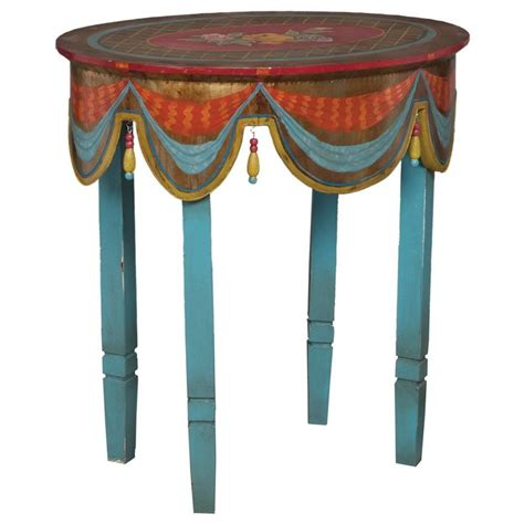 painted accent tables moroccan painted accent table furniture pinterest