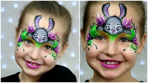 zootopia bunny makeup  kids easter face painting