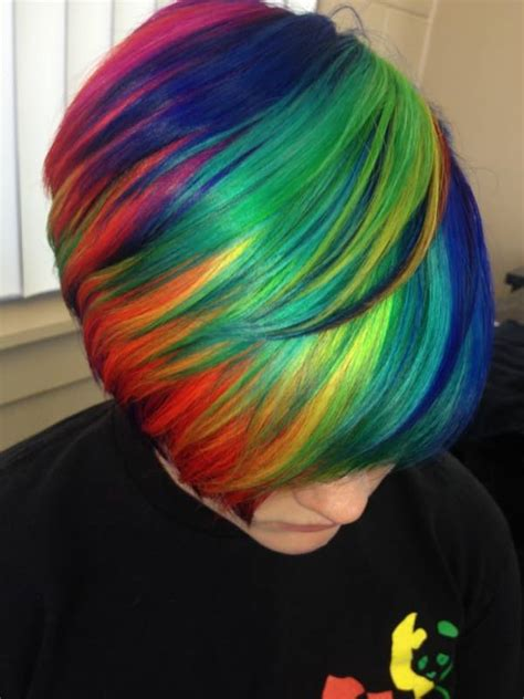 rainbow color hair ideas beautiful short rainbow hair hair colors ideas