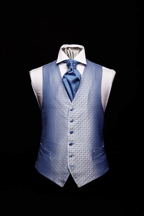 blue pattern waistcoat blue diamond pattern silk lurex waistcoat by neal palmer