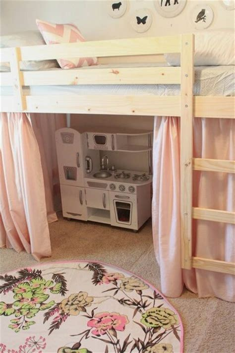 bunk bed with play area underneath bedroom cute under the bed play area bed room decorations pint