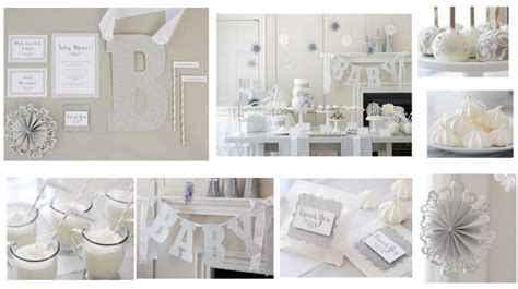All White Baby Shower by Winter White Baby Shower Rustic Baby Chic