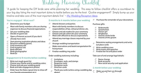 Wedding Checklist Template Malaysia by Planning A Wedding Checklist Printable Dogs Cuteness