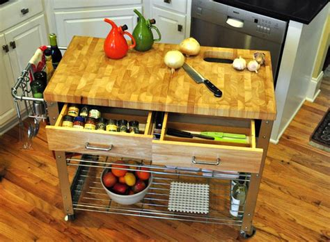 diy portable kitchen island 12 diy kitchen island designs ideas