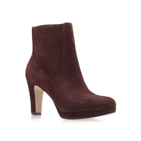 west boots nine west pook ankle boots in brown lyst