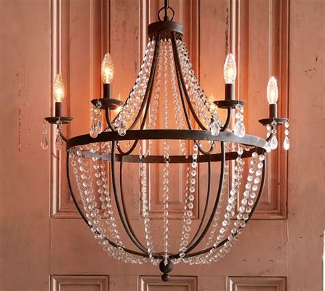 pottery barn lighting chandeliers quinn chandelier pottery barn