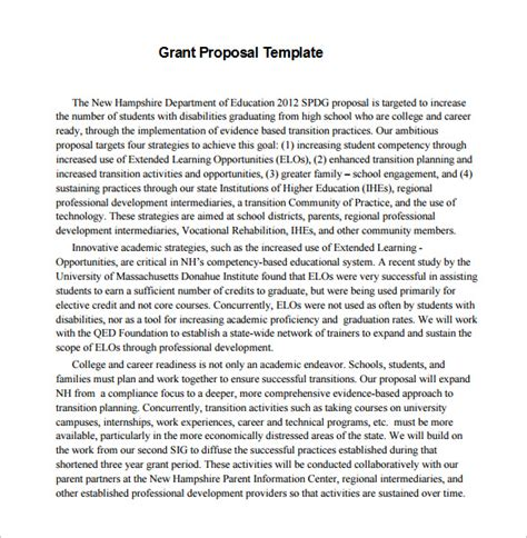 Education Grant Template Grant Template 40 Free Word Excel Pdf Ppt