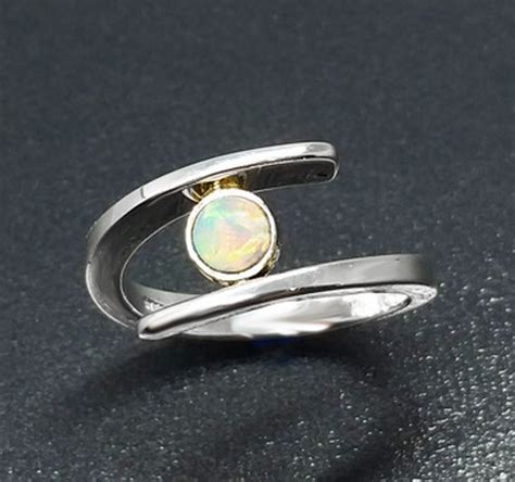 australian opal silver ring treasures jewelry