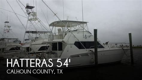 convertible fishing boat brands hatteras 54 convertible for sale in port o connor tx for