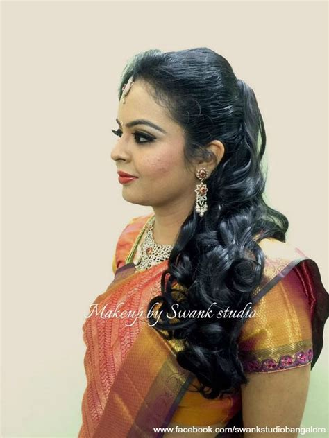 bridal hairstyles hindu indian bride s reception hairstyle by swank studio curls