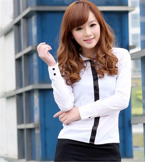 Kemeja Wanita Kerja Putih kemeja kerja wanita putih lengan panjang model terbaru jual murah import kerja