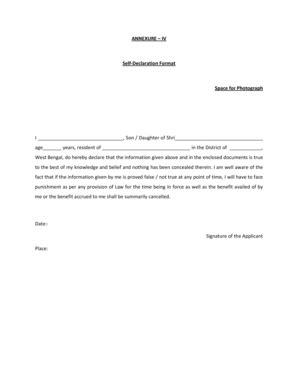 self declaration format for resume self declaration form dolapgnetband