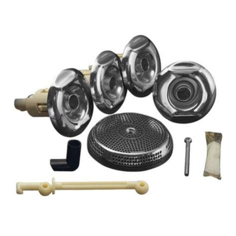 bathtub jet replacement parts k9694 cp kohler baths complete flexjet whirlpool kit chrome 3 80 9030