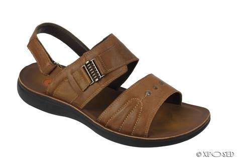 Sandal Bigsize new mens big size leather sandals open toe adjustable