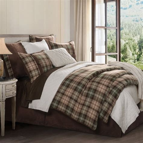 huntsman green plaid comforter set hiend accents rustic