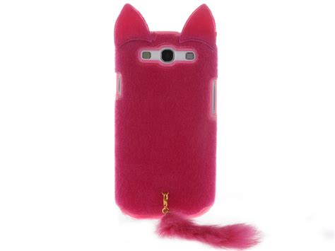 3d fluffy cat tpu cell phone cover for