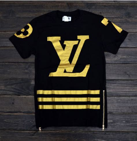 lv 7 zipper shirt gold black 183 thug fashion 183 online