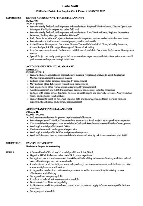 financial analyst resume vintage financial analyst resume sample
