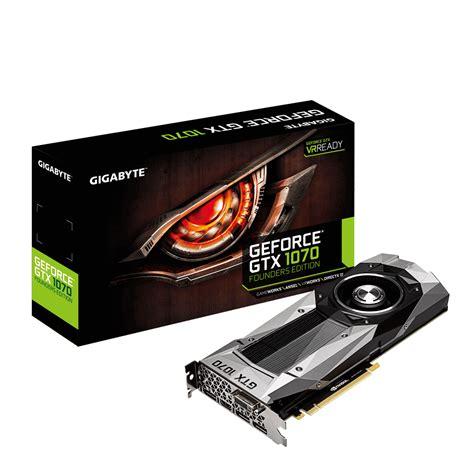 Gigabyte Geforce Vga Gtx 1070 Ti Gaming 8g geforce 174 gtx 1070 founders edition 8g graphics card gigabyte