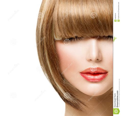 Hairstyle Photos Only Printer by Fringe Hairstyle Stock Photo Image Of Haircutting