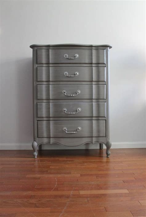 tall grey dresser french grey metallic tall dresser bureau chest