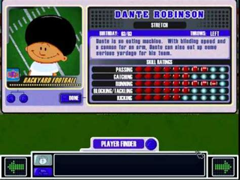 dante robinson backyard baseball dante robinson theme backyard football 2002 youtube