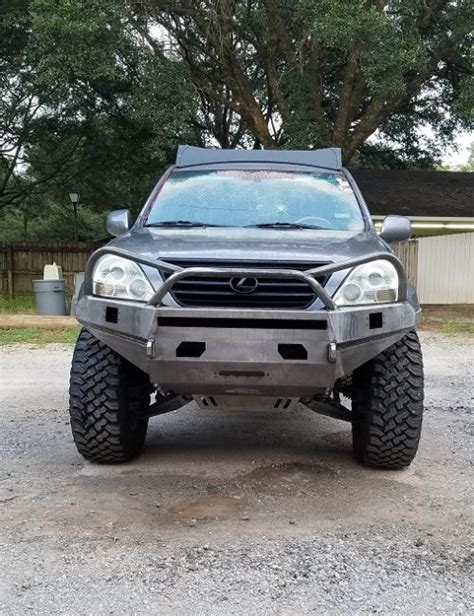 Kyx Metal Front Bumper With Led V2 For Axial Scx10 gx470 steel plate winch bumper v2 1 southern style offroad