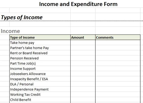 expenditure excel template daily income and expenditure template excel meaning