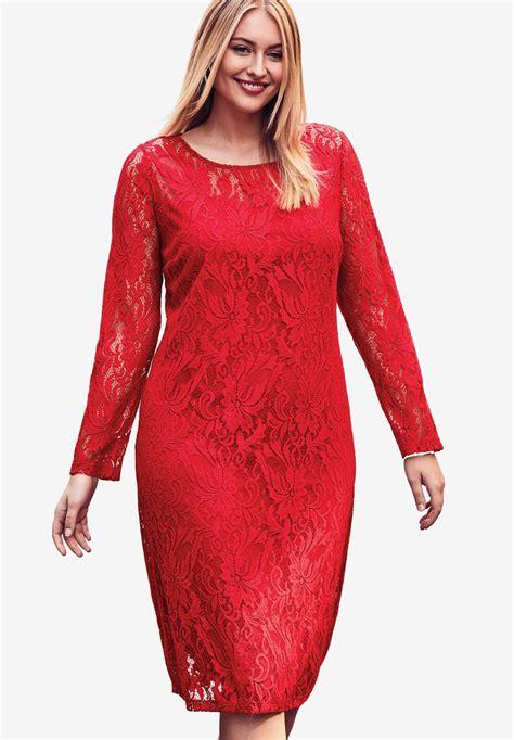 Voerin Dress Lace Size S lace shift dress plus size work dresses