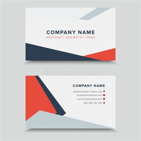 card visit template vertor visit card business card template design stock