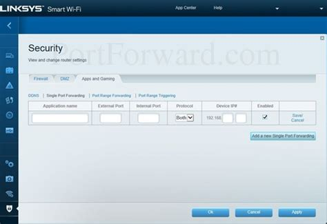 single forwarding how to open a on the linksys ea4500 smart wi fi