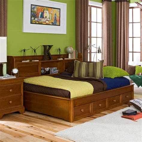 queen bedroom set with storage drawers queen size day bed with storage four drawers and bookcase