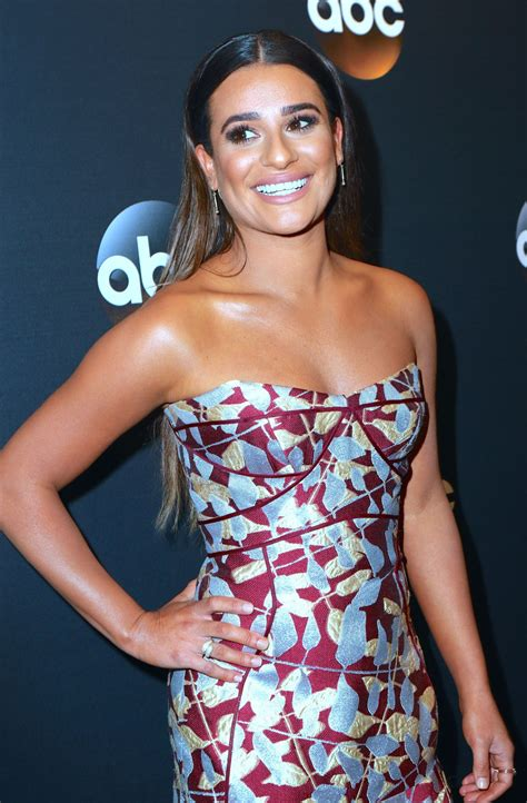 lea michele lea michele abc upfronts presentation at the lincoln