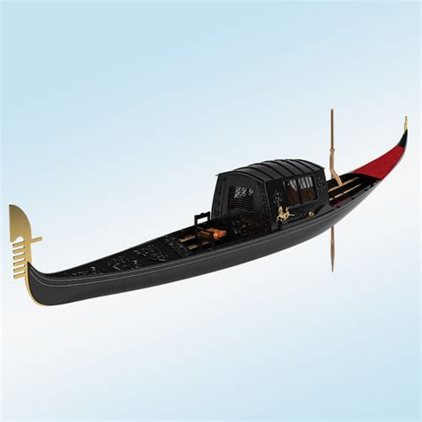 gondola and boat 3d gondola boat model