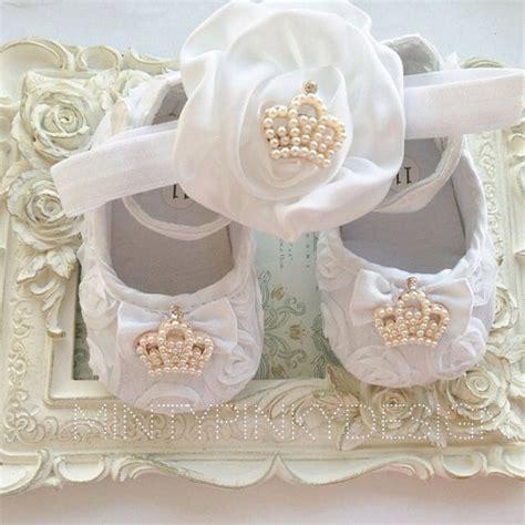 baby flower headband satin crown infant headband baby white satin rosette flower headband crown set