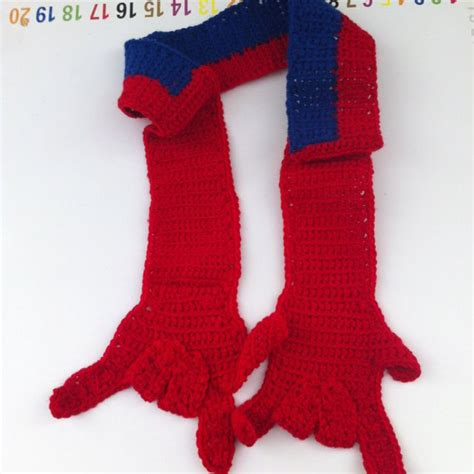 crochet pattern for spiderman scarf spiderman scarf hand crocheted by me myself and i