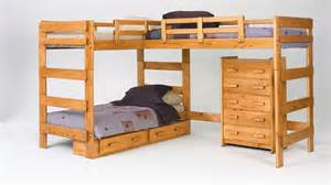Loft Beds And Bunk Beds Modern Wooden Bunk Beds Nature Style Room Ideas