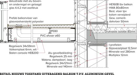 Balkon Detail flats met nieuwe thermische buitenschil 187 bouwwereld nl