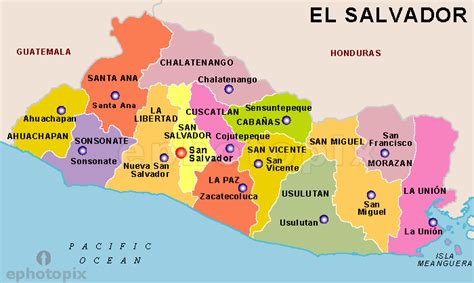 the map of el salvador el salvador map images