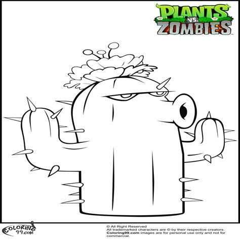 imagenes de plantas contra zombies navidad plants vs zombies cactus coloring pages 980繝笳1500 dibujos