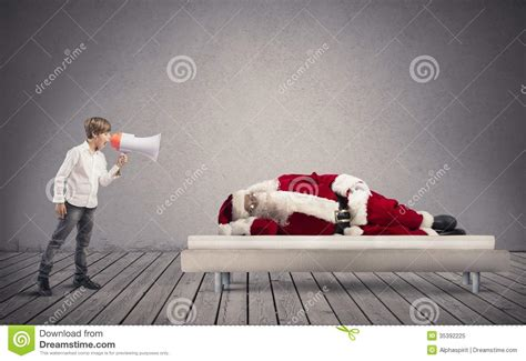 wake up asleep santa claus stock image image of noise