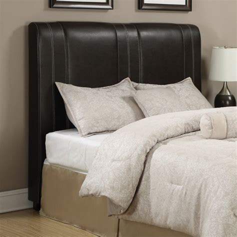 brown leather headboard queen coaster caleb queen faux leather headboard in brown