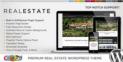 themeforest real estate wp pro real estate 5 responsive wordpress theme by