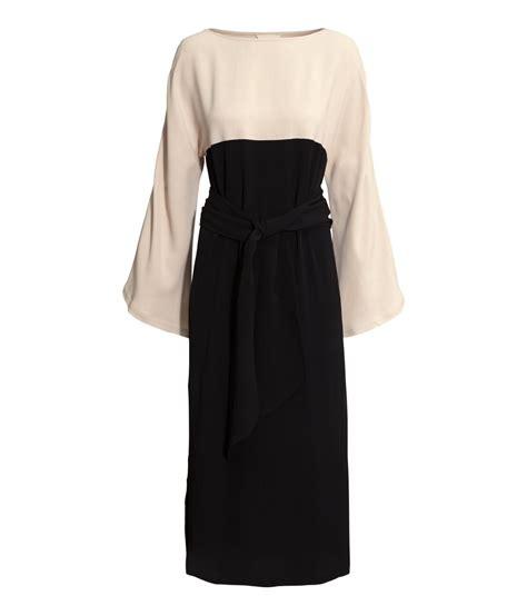 Hm Dress h m colour block midi dress dresscodes