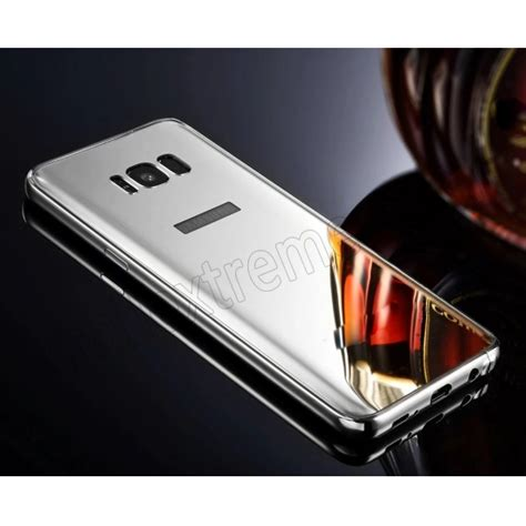Samsung Galaxy S8 Skin Brushed Metal Bumper Armor Sarung silver aluminum metal mirror pc back cover skin for