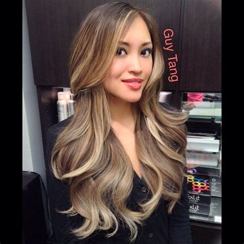 what hair color is easy on wrinkles ash blonde ombre on asian hair no orange no stripes no