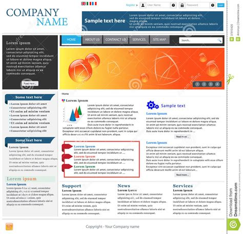 Professional Website Template Stock Photo Image 37910420 Professional Website Templates