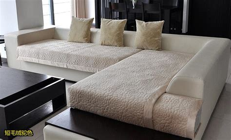 Modern Sofa Cover Aliexpress Buy Decorative Sofa Cover Sectional Modern Slipcover Beige Suede Fabric