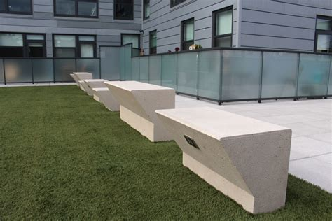 custom concrete benches custom concrete benches fit pit seating concrete bar